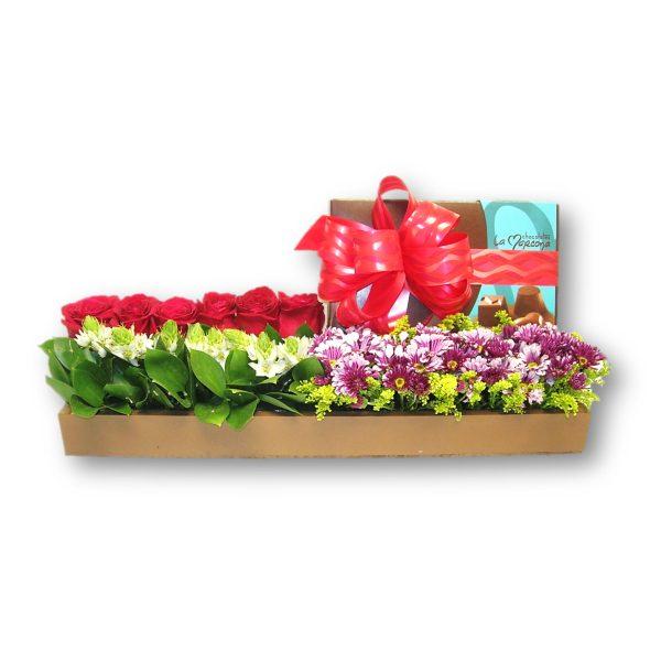 Arreglo de Rosas y Chocolates