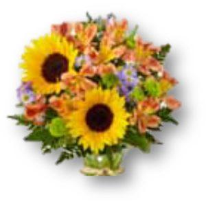 Arreglo de Flores Campestres Girasoles.