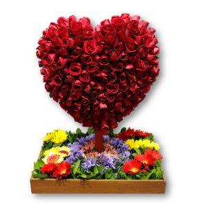 Corazón de Rosas.-Flores en Caracas-Envío de Flores