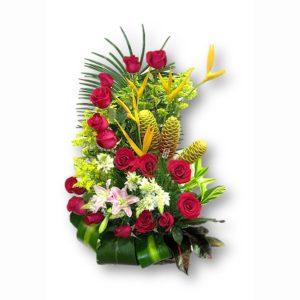 "Arreglo Floral ""Hogarth de Rosas""."