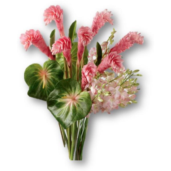 arreglo de flores tropicales